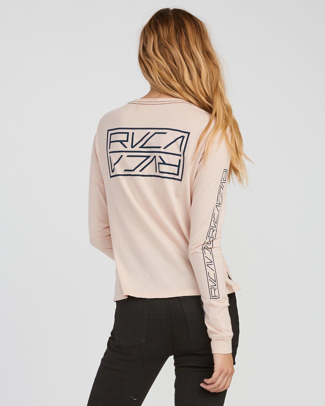 2 Reflector Long Sleeve T-Shirt Pink W456SRRE RVCA