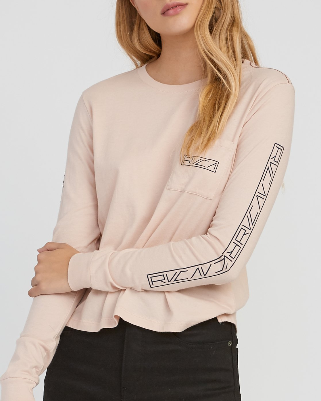 3 Reflector Long Sleeve T-Shirt Pink W456SRRE RVCA