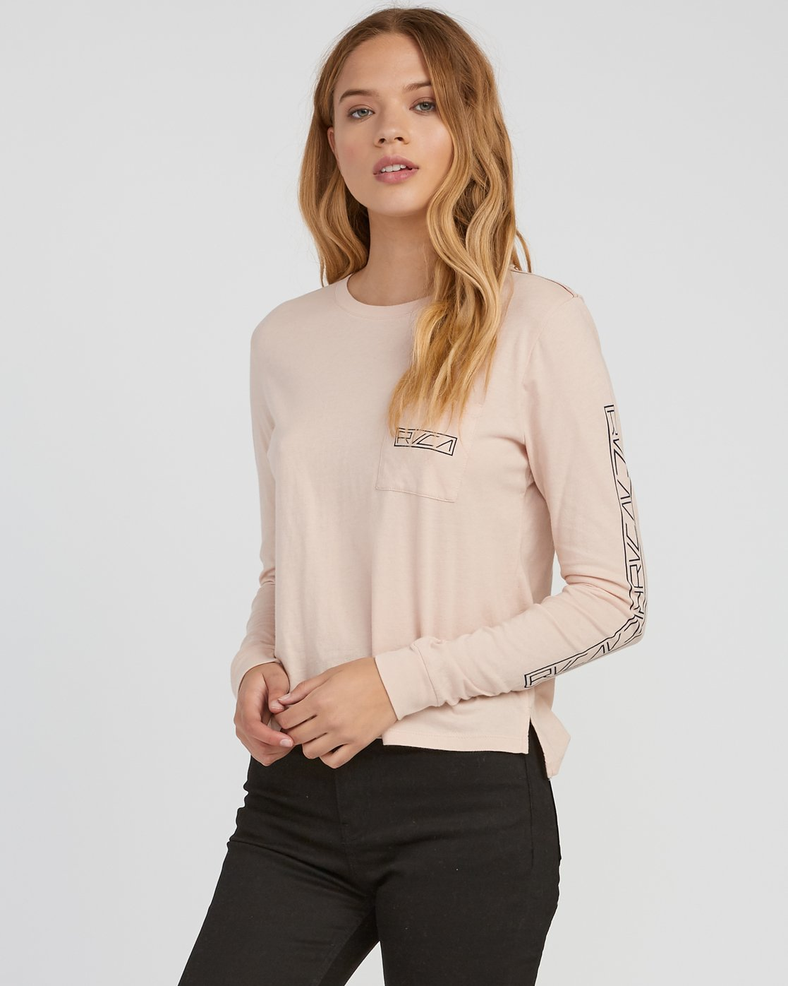 0 Reflector Long Sleeve T-Shirt Pink W456SRRE RVCA