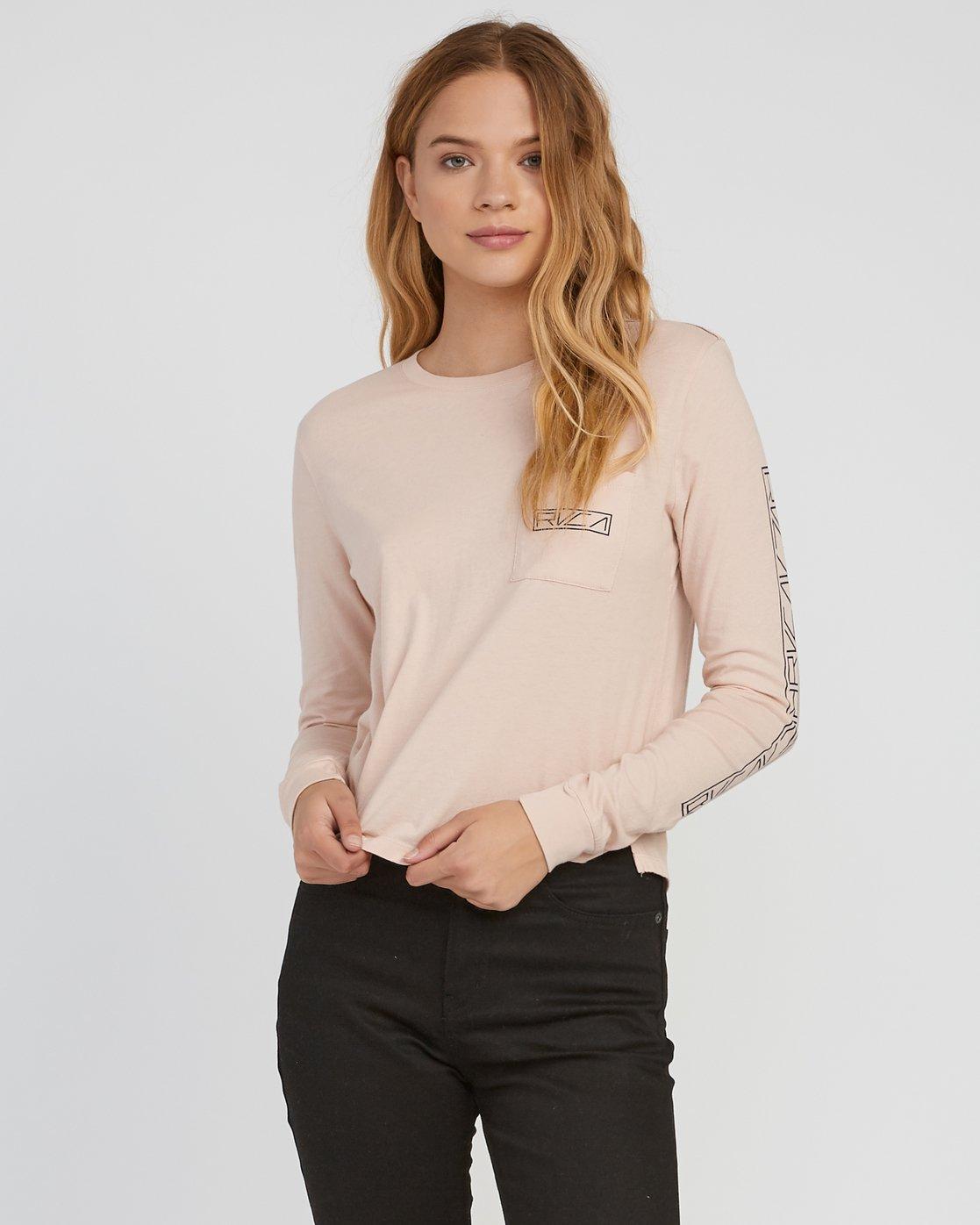 1 Reflector Long Sleeve T-Shirt Pink W456SRRE RVCA