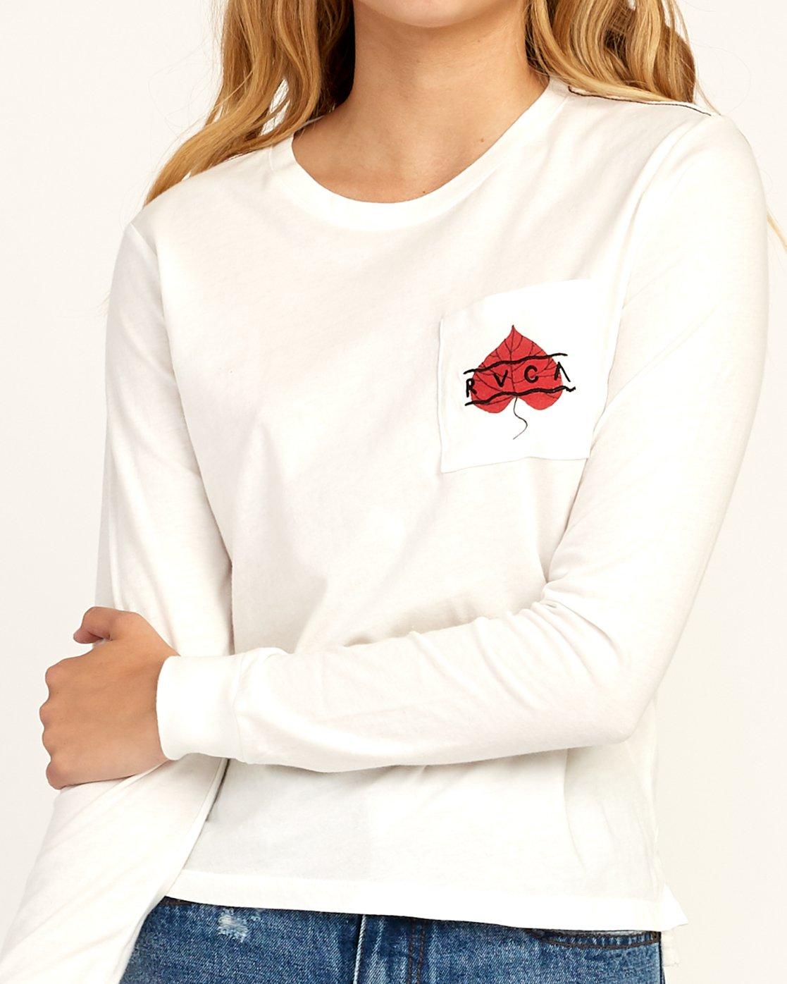 4 Tom Gerrard Foliage Long Sleeve T-Shirt White W456TRFO RVCA