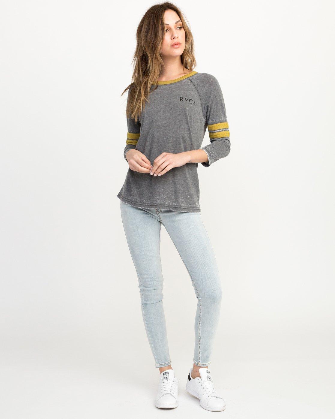 3 Cactus Road Tri-Blend T-Shirt Grey W457QRCA RVCA