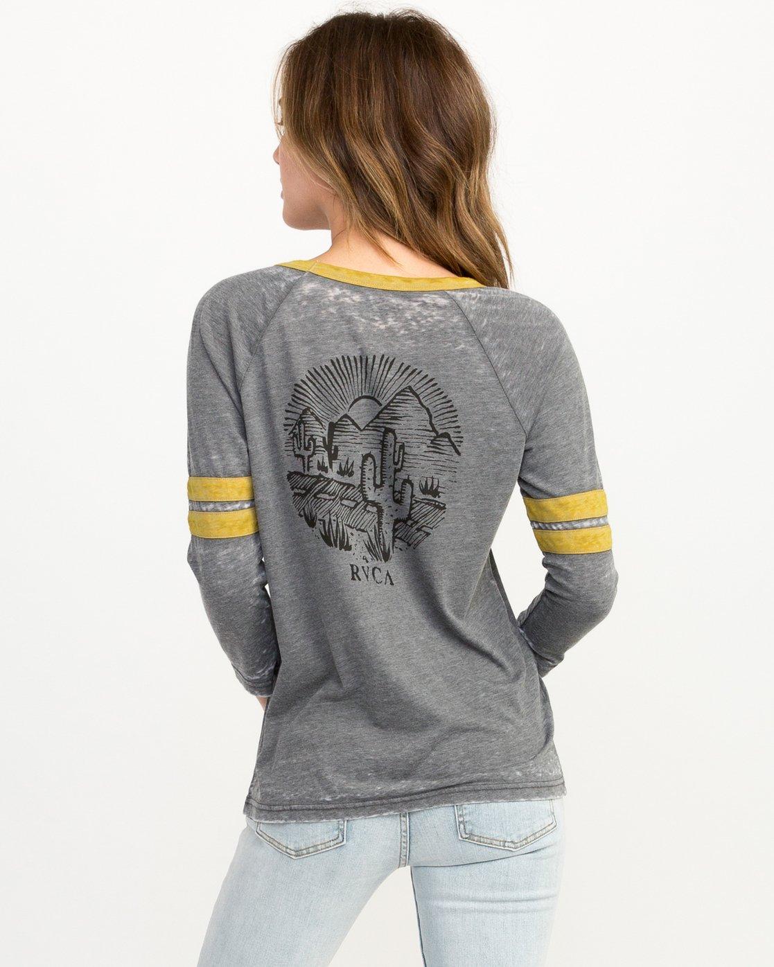 2 Cactus Road Tri-Blend T-Shirt Grey W457QRCA RVCA