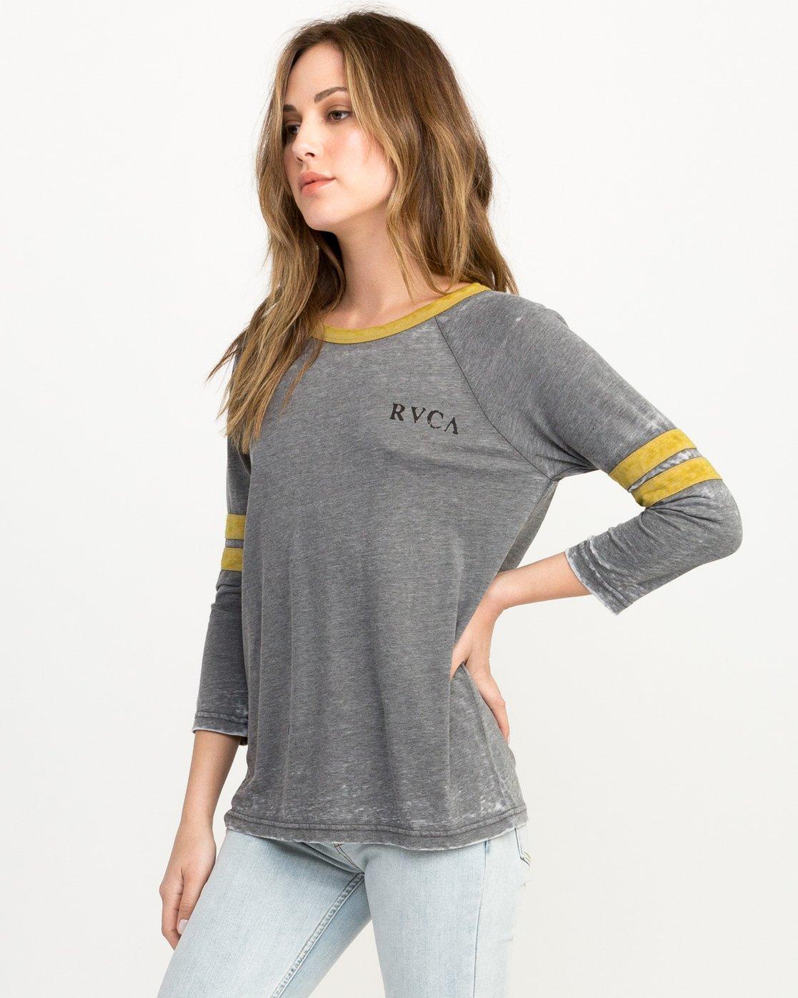 1 Cactus Road Tri-Blend T-Shirt Grey W457QRCA RVCA