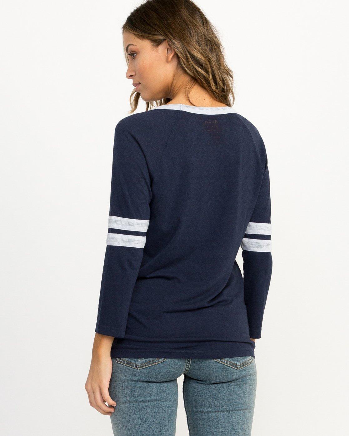 2 Trippy Tri-Blend T-Shirt Blue W457QRTR RVCA