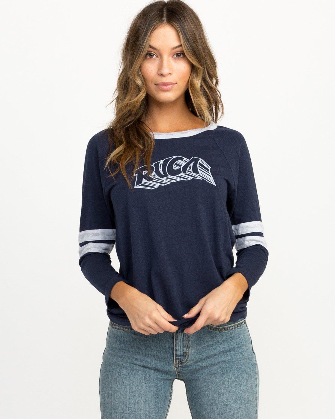 0 Trippy Tri-Blend T-Shirt Blue W457QRTR RVCA