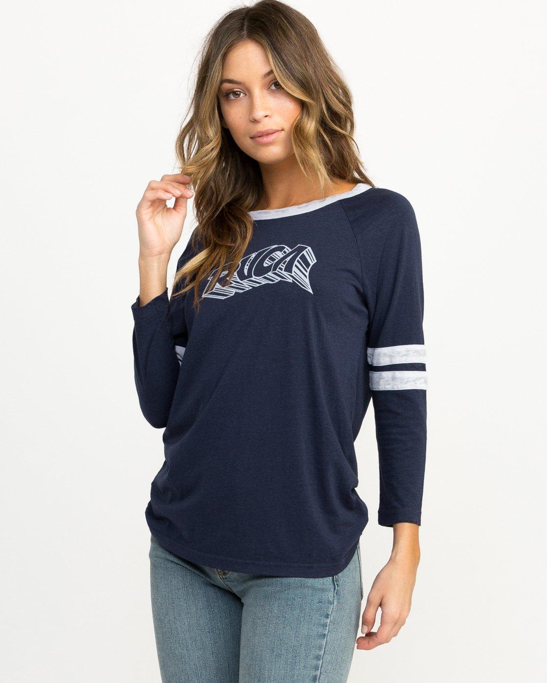 1 Trippy Tri-Blend T-Shirt Blue W457QRTR RVCA