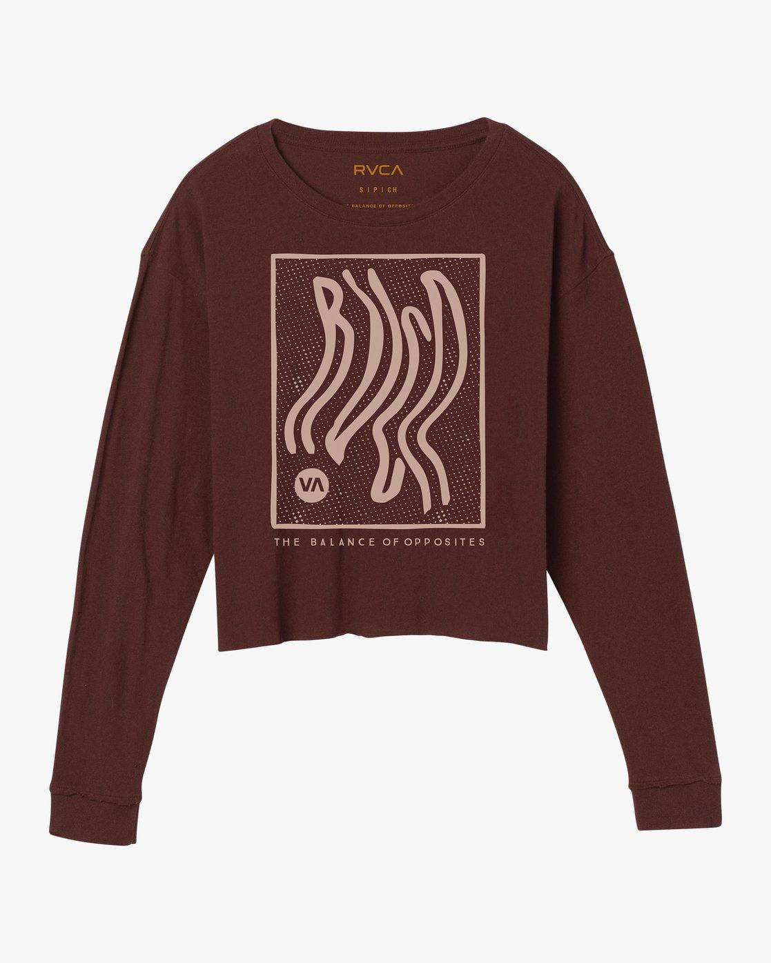 5 Longshore Knit T-Shirt Pink W458SRLO RVCA