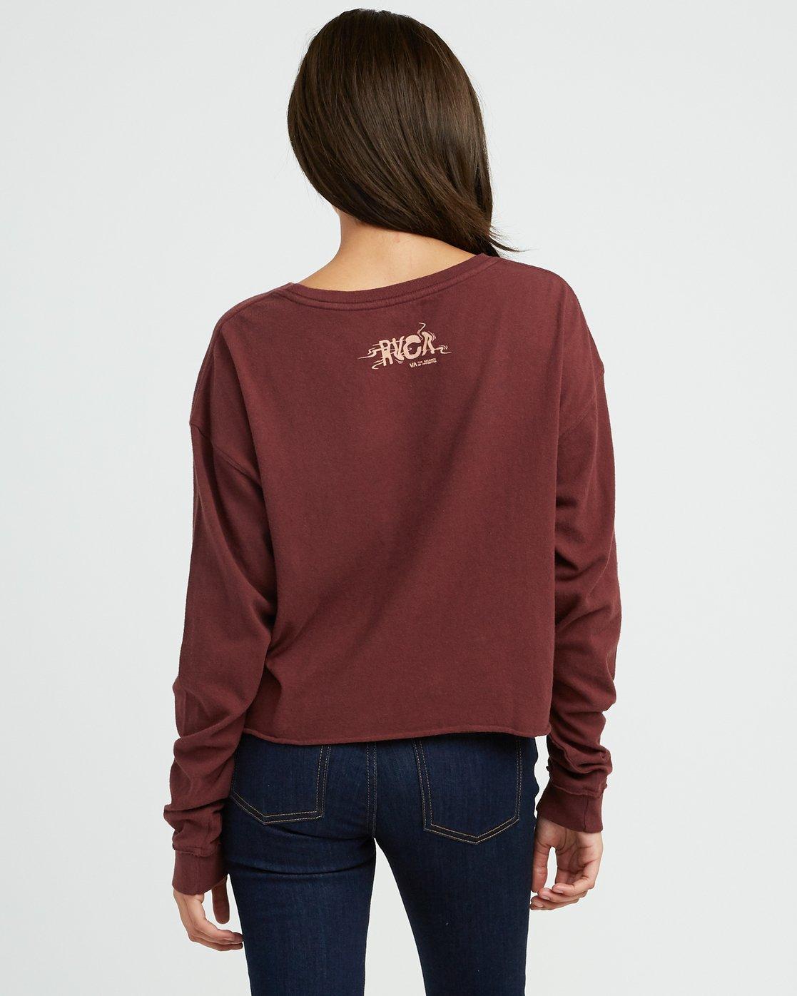 2 Longshore Knit T-Shirt Pink W458SRLO RVCA