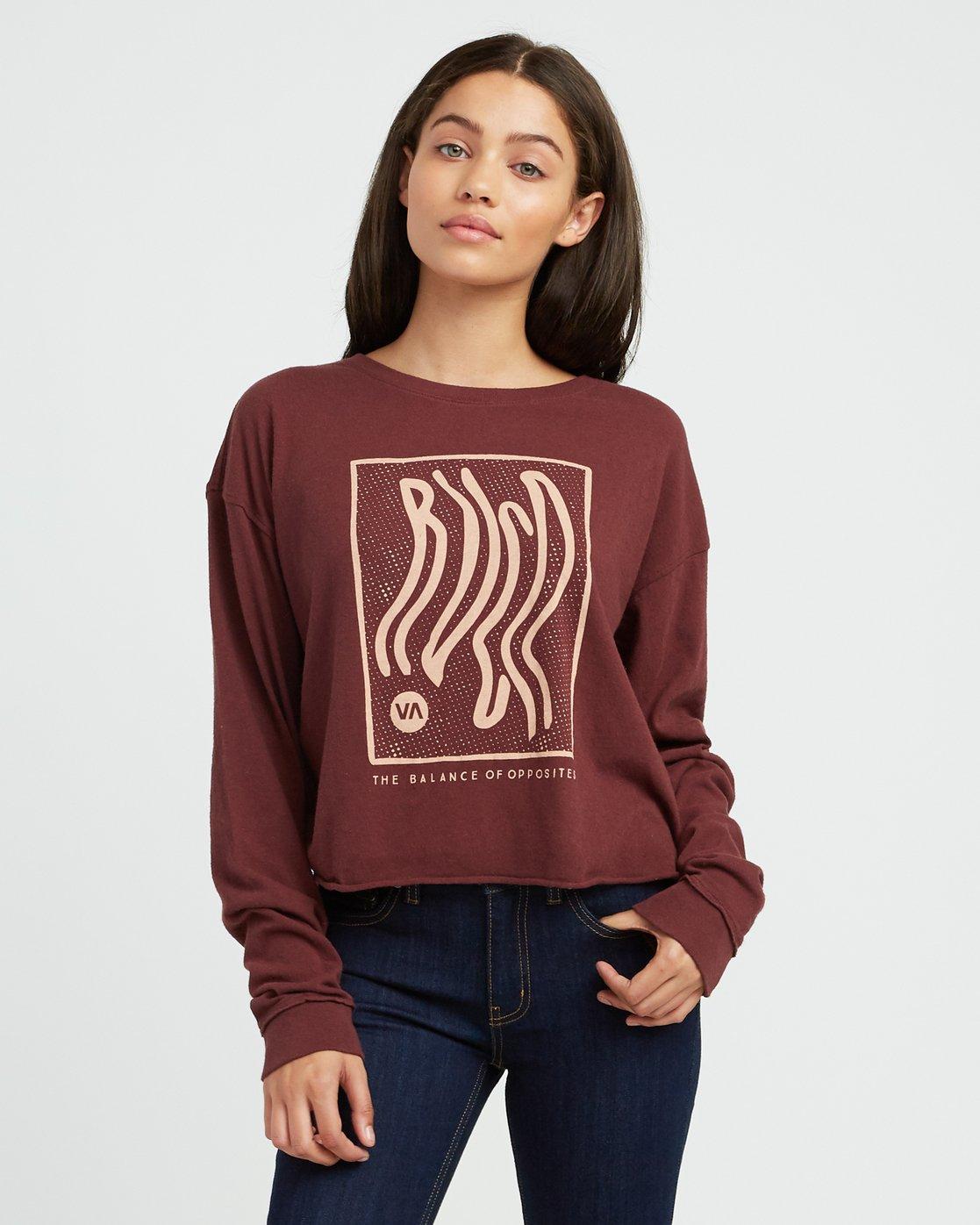 0 Longshore Knit T-Shirt Pink W458SRLO RVCA