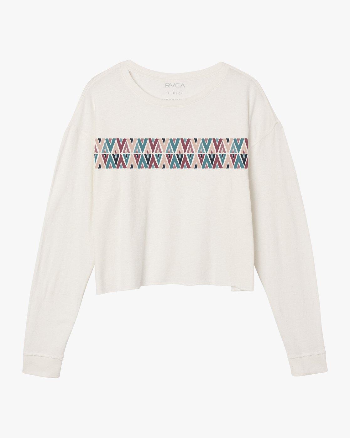 5 Mod Stripe Knit T-Shirt White W458SRMO RVCA