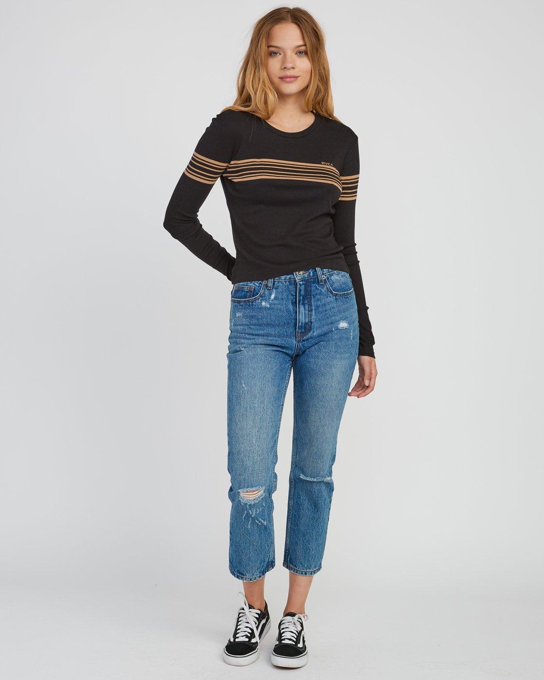 4 Liner Note Long Sleeve T-Shirt Black W459SRLI RVCA