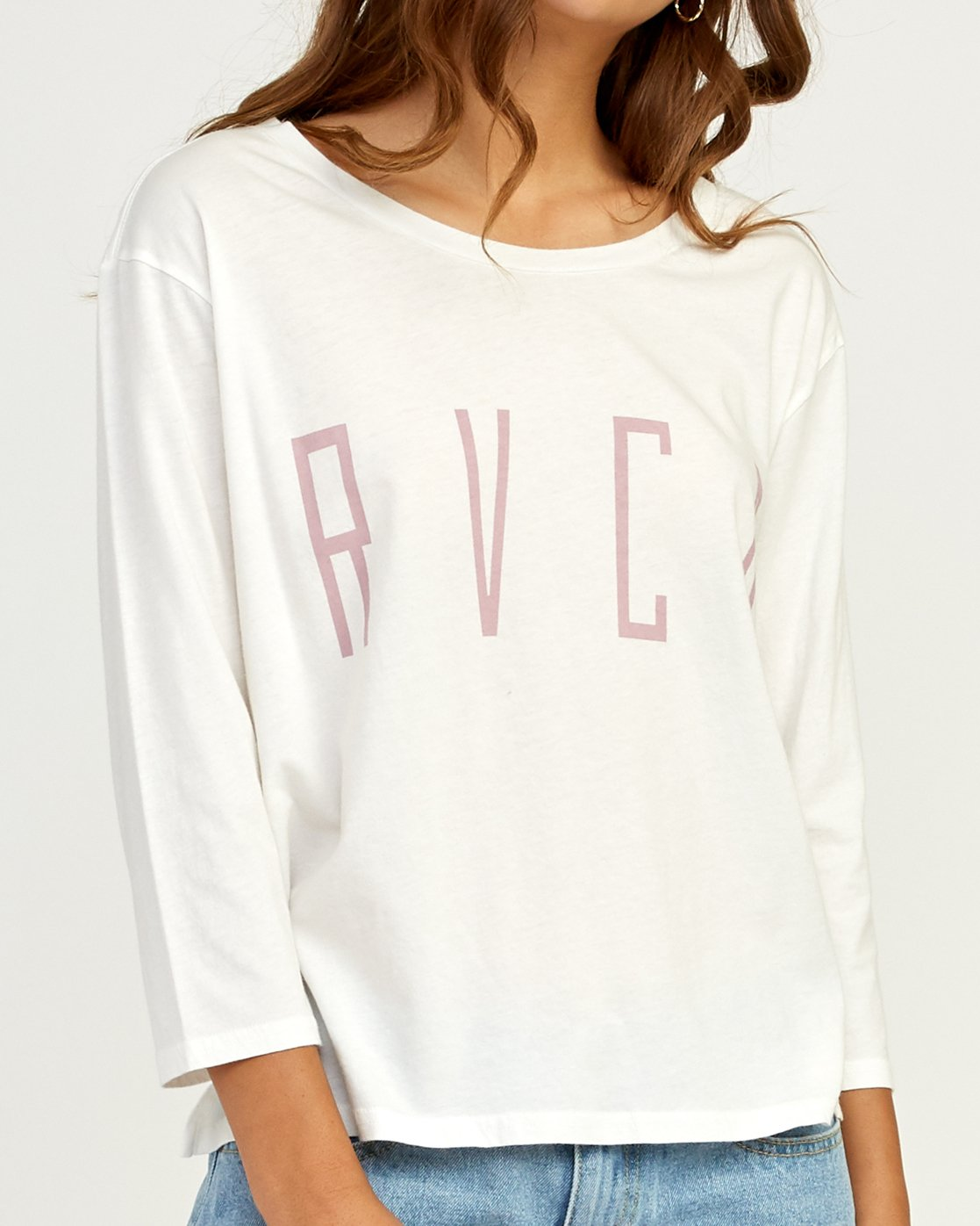 3 Stilt Long Sleeve T-Shirt White W463TRST RVCA