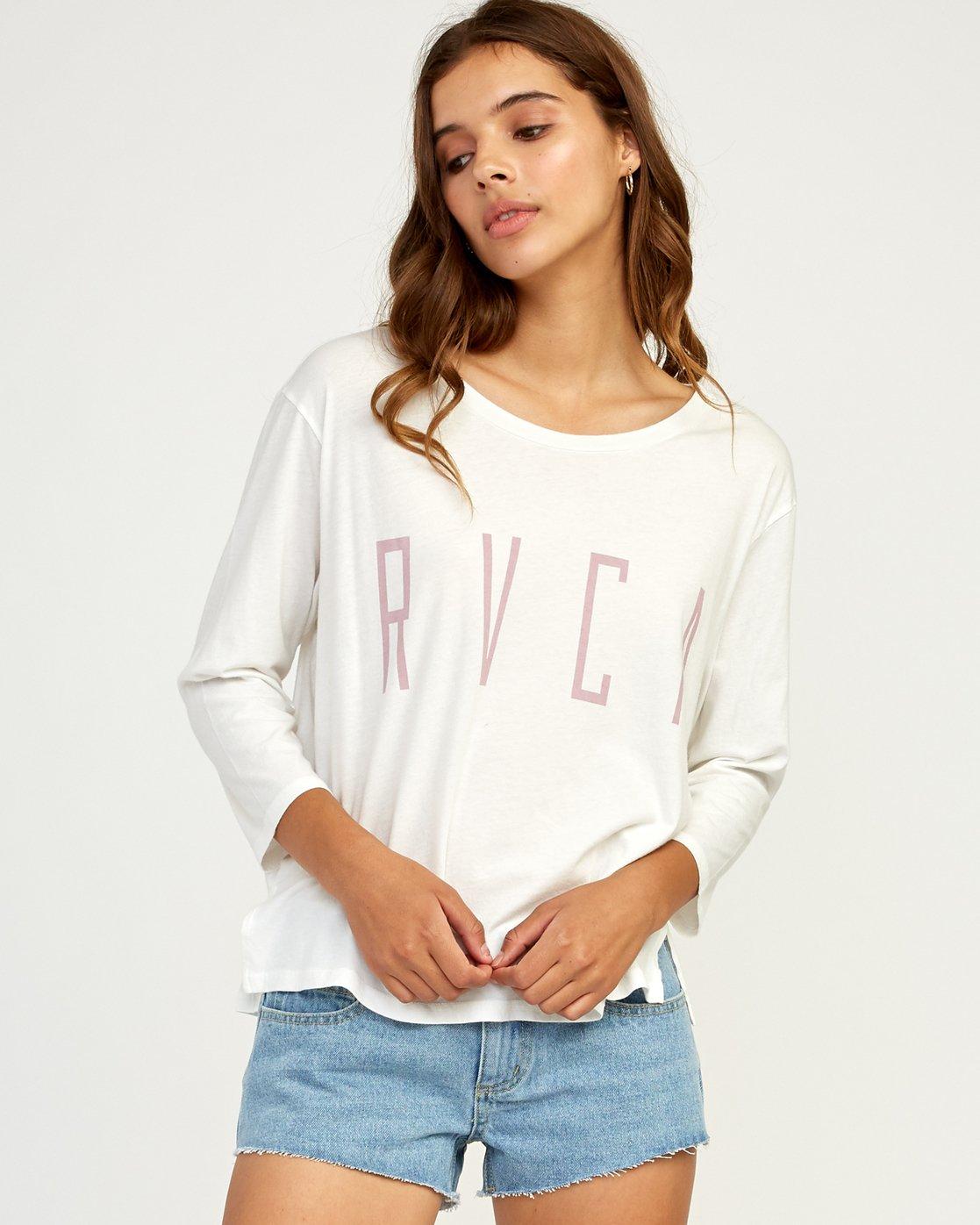 0 Stilt Long Sleeve T-Shirt White W463TRST RVCA