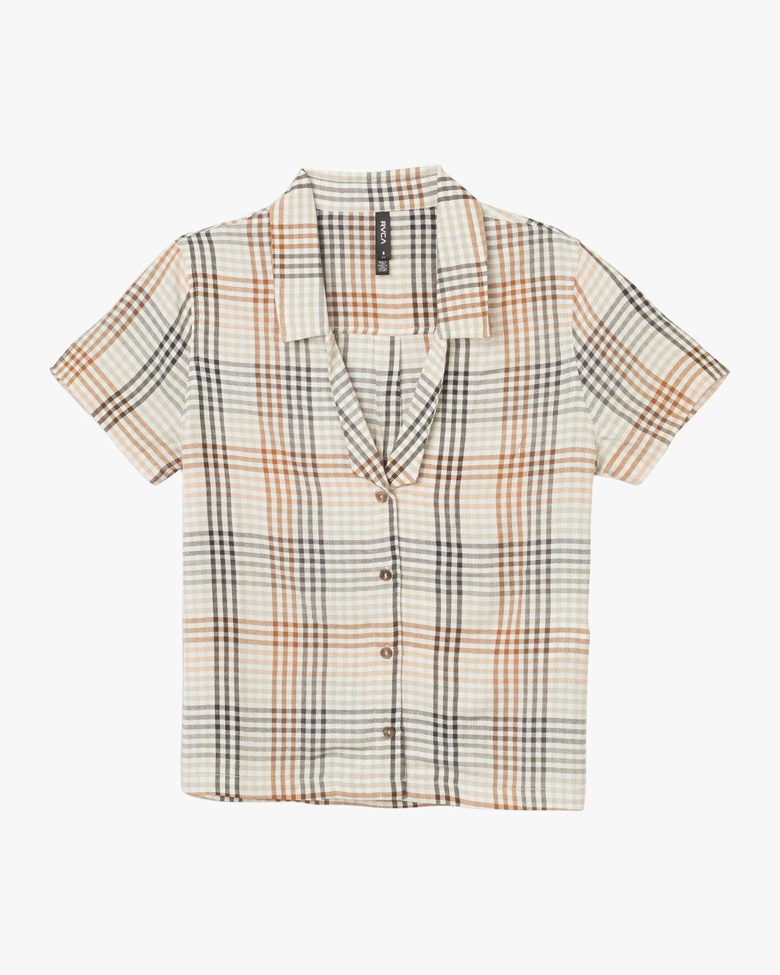 6 London Plaid Button-Up Shirt Black W501TRLO RVCA