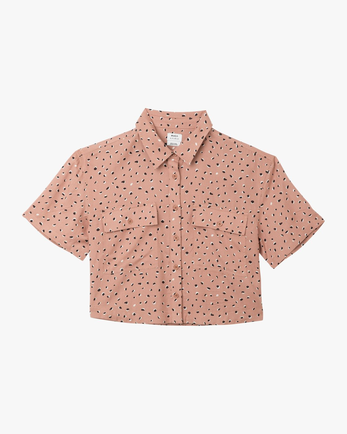 5 Voila Button-Up Shirt Brown W503TRVO RVCA