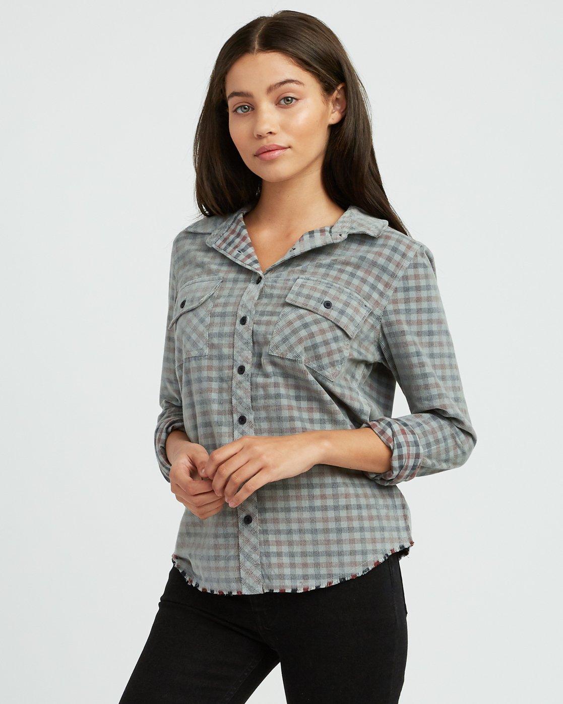 0 Buffalo Corduroy Button-Up Shirt Pink W512SRBU RVCA