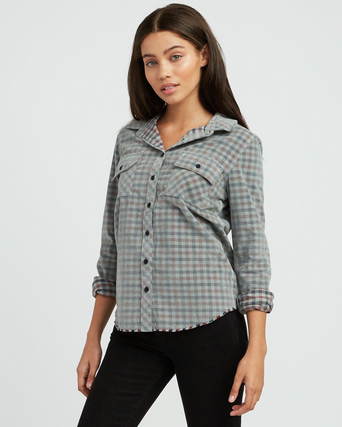 2 Buffalo Corduroy Button-Up Shirt Pink W512SRBU RVCA