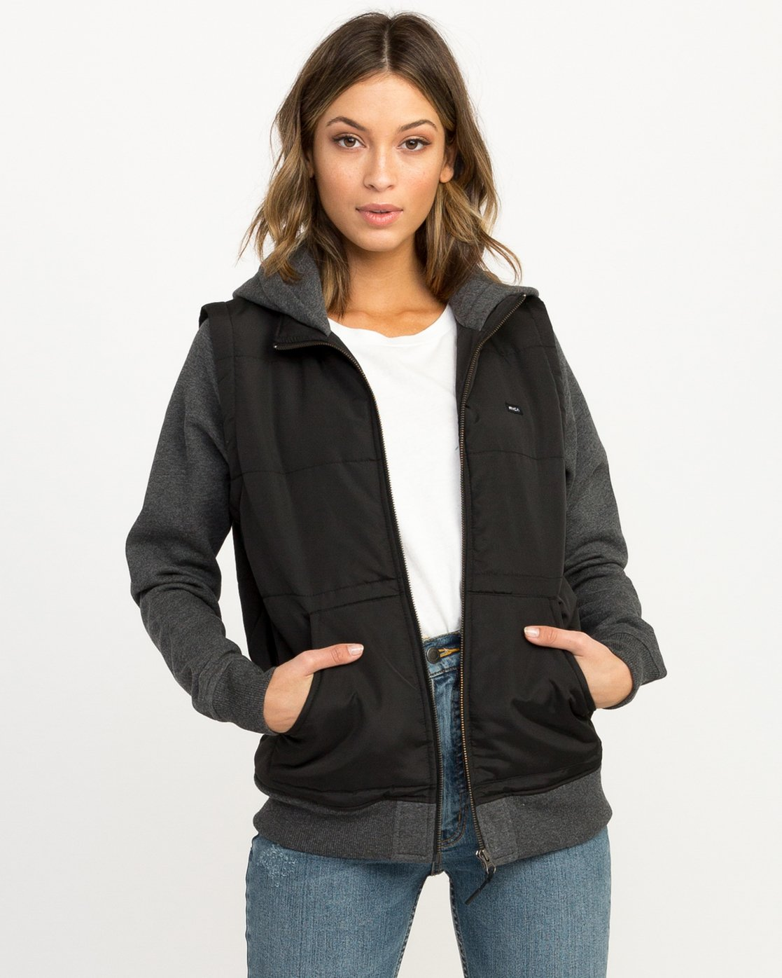0 Eternal Quilted Fleece Jacket Black W601QRET RVCA