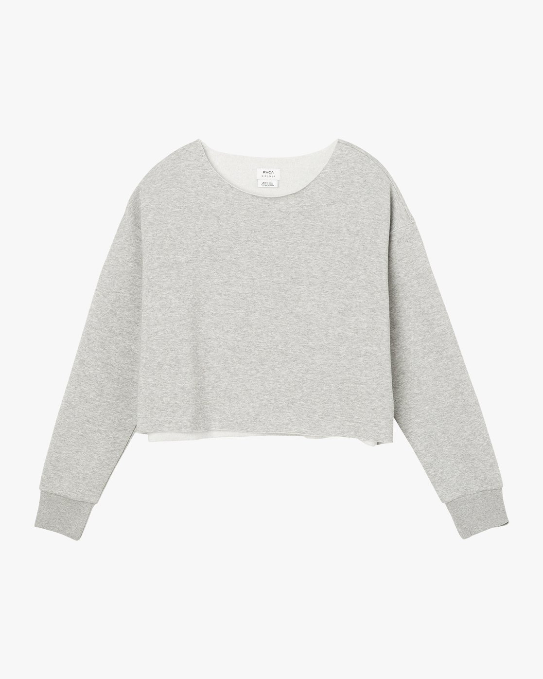 5 Stranger Cropped Sweater Grey W603SRST RVCA