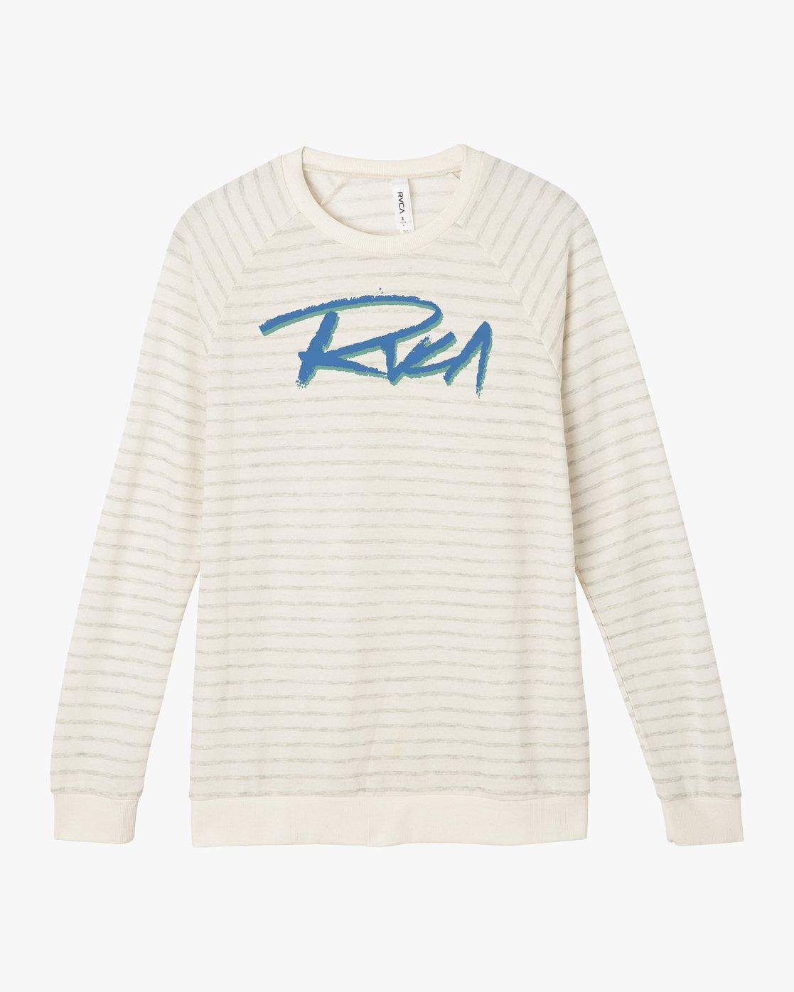 5 Skratch Fleece Sweatshirt White W608PRSK RVCA