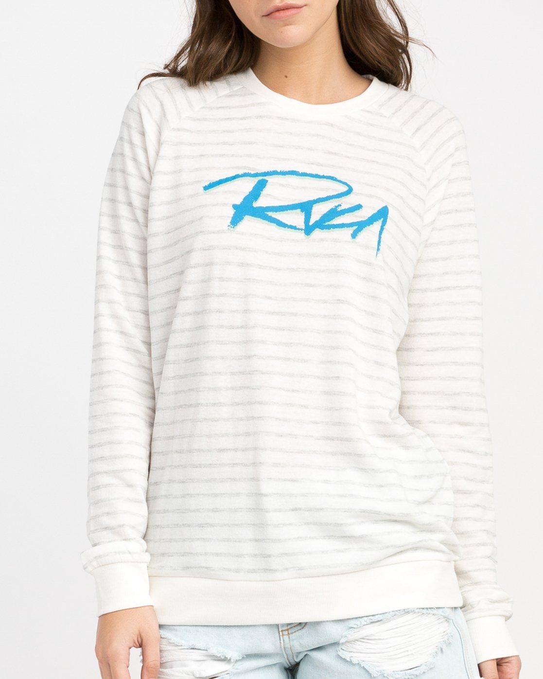 3 Skratch Fleece Sweatshirt White W608PRSK RVCA