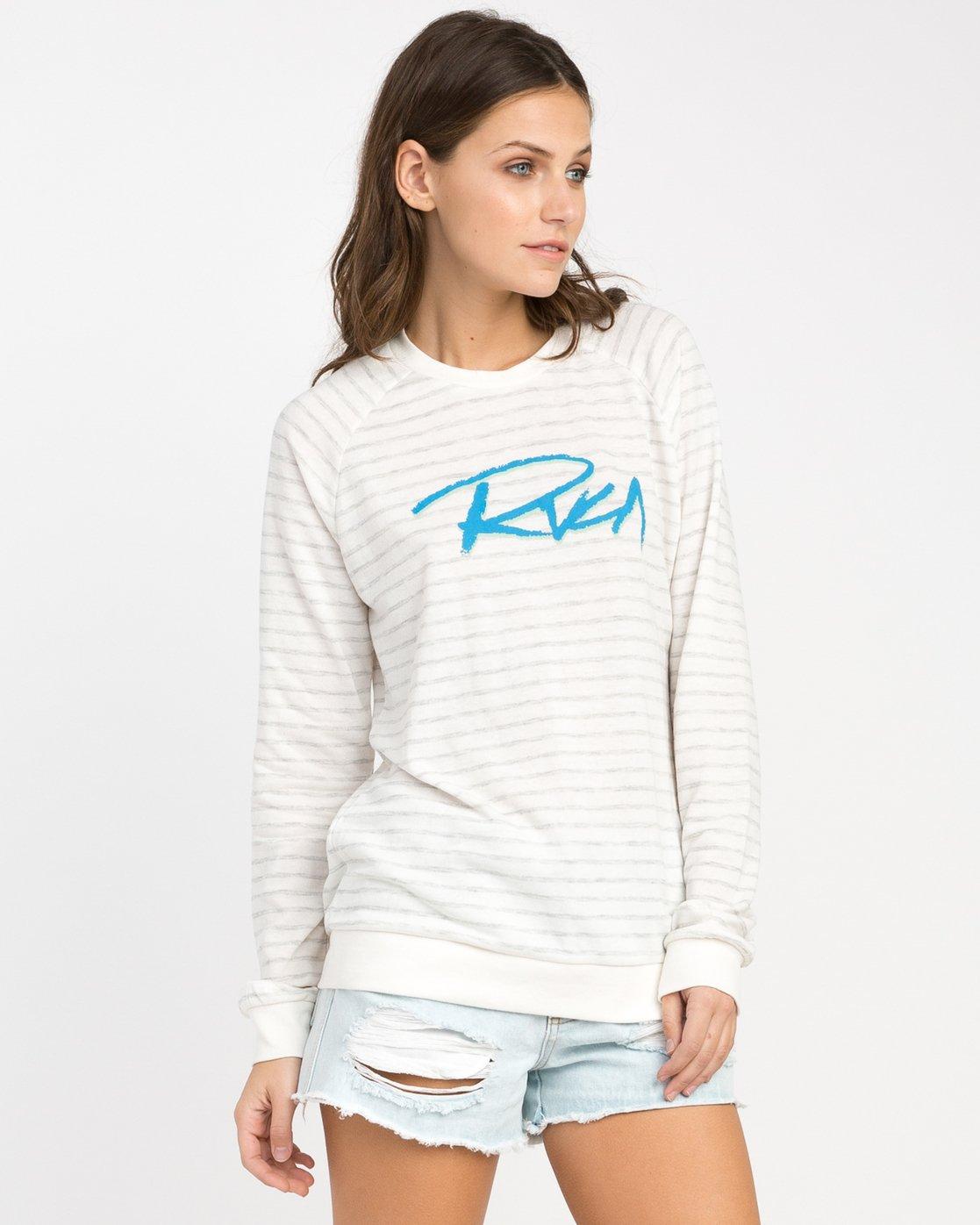1 Skratch Fleece Sweatshirt White W608PRSK RVCA