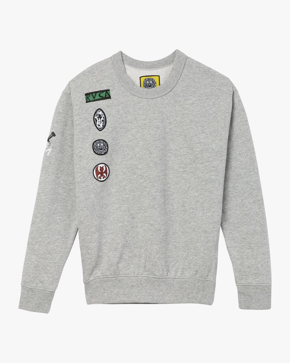 5 Joe Grillo Patch Sweatshirt Grey W608QRGR RVCA