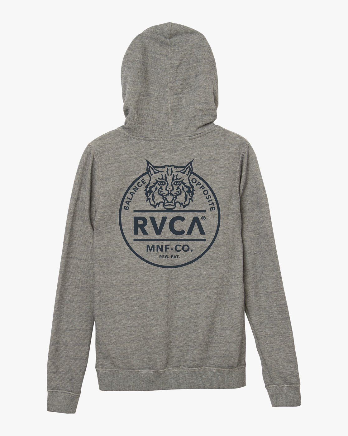 6 Mascot Zip Up Hoodie Grey W616SRMA RVCA