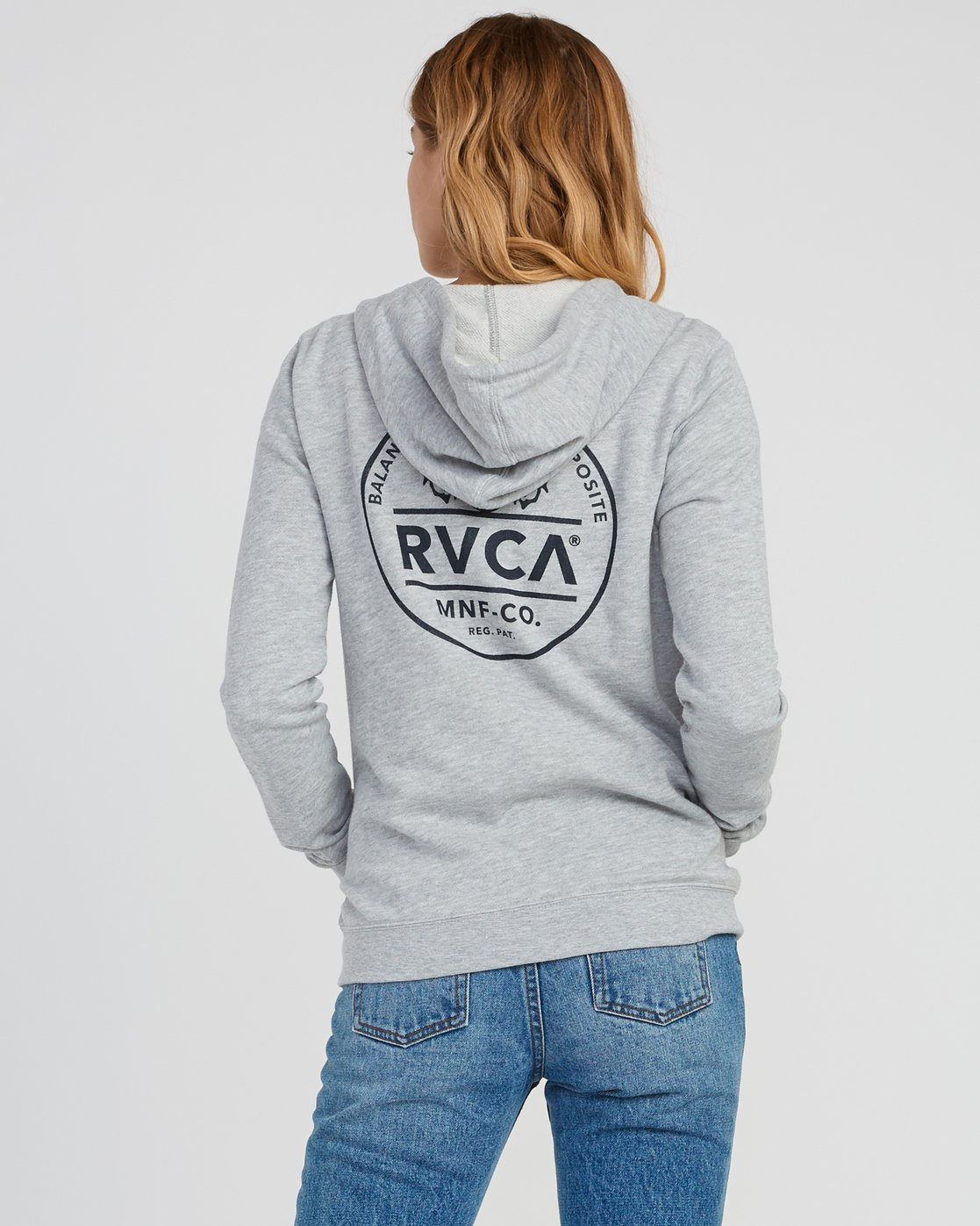 2 Mascot Zip Up Hoodie Grey W616SRMA RVCA