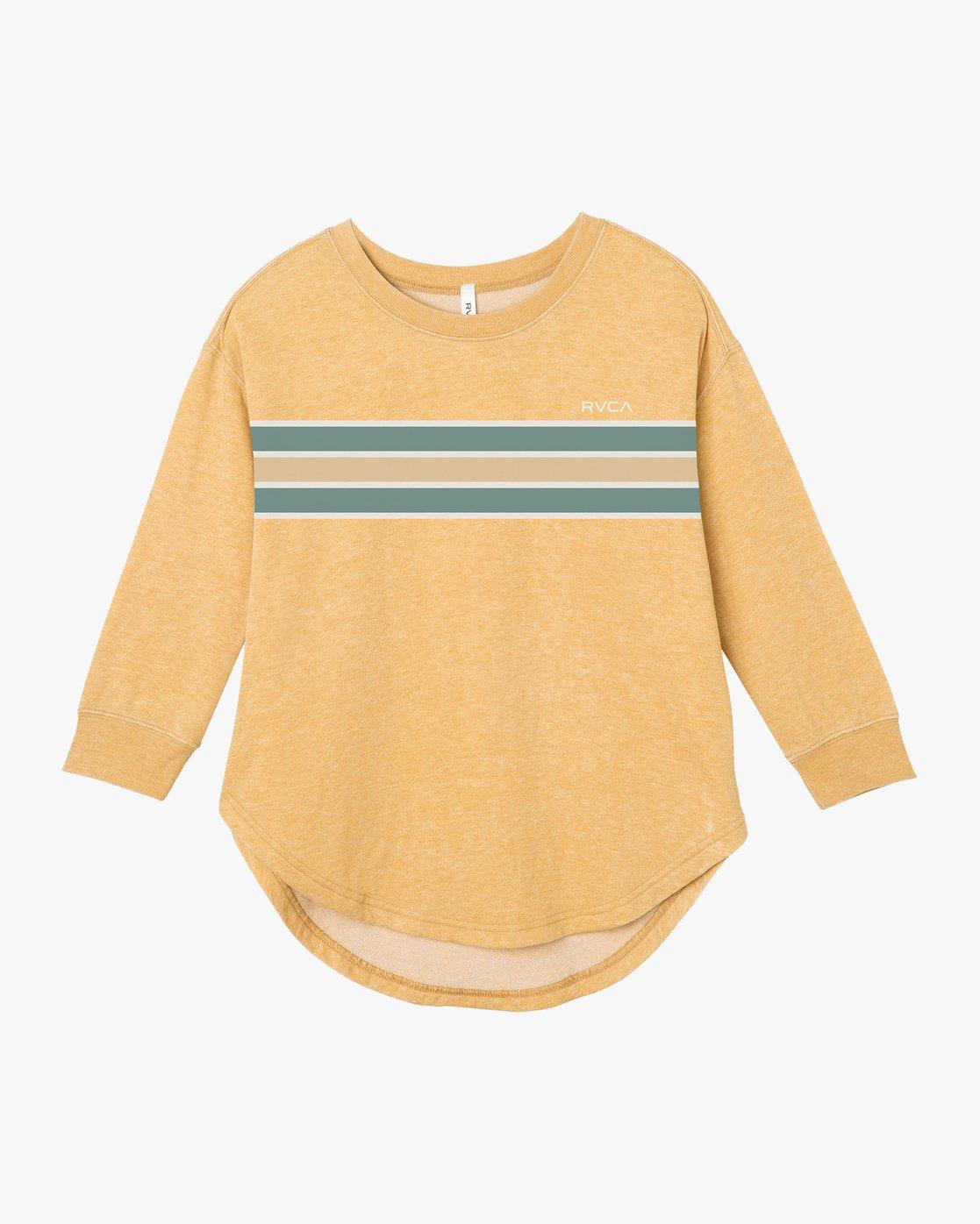 4 Day Stripe Pullover Crew Sweatshirt  W617QRDA RVCA