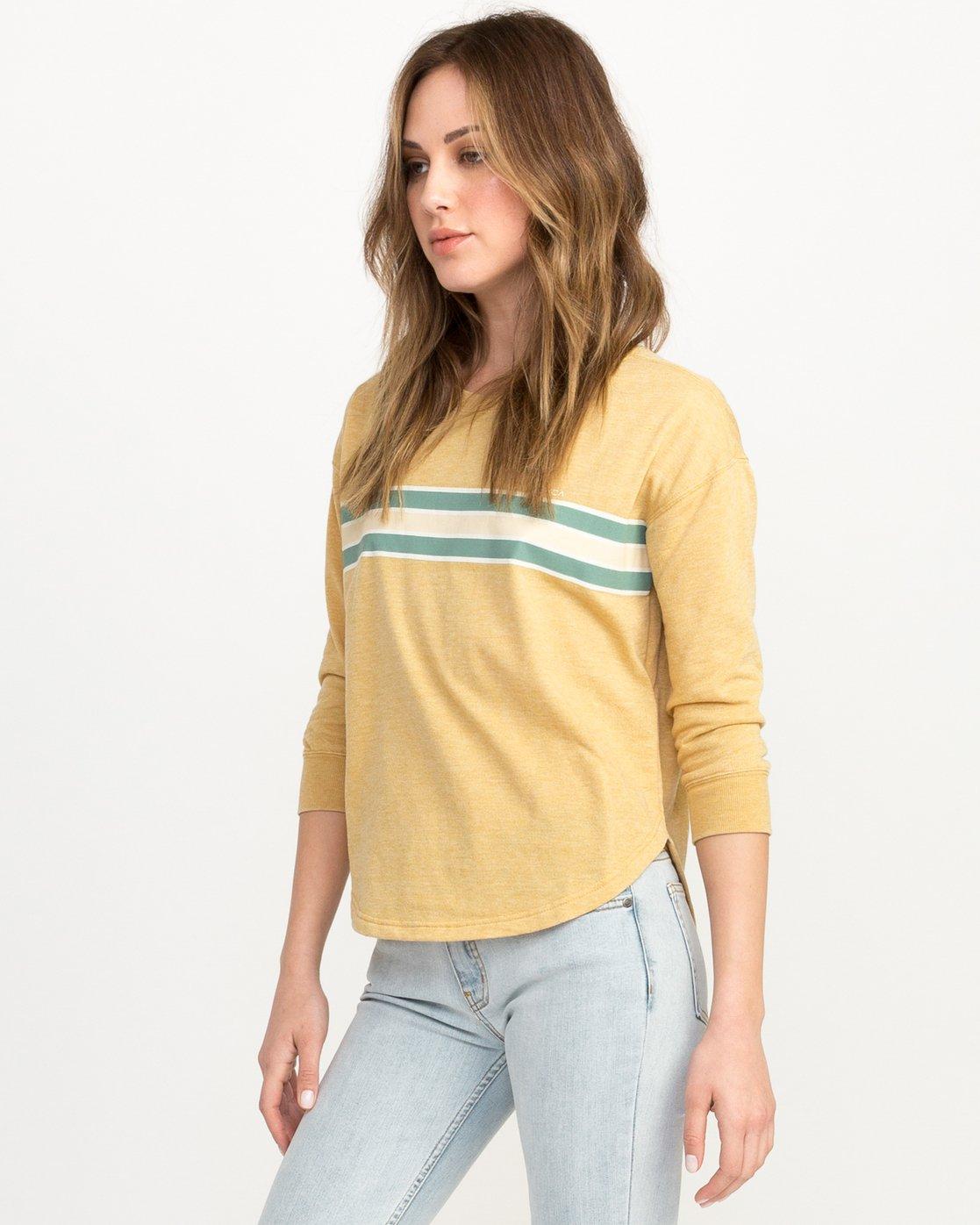 1 Day Stripe Pullover Crew Sweatshirt  W617QRDA RVCA