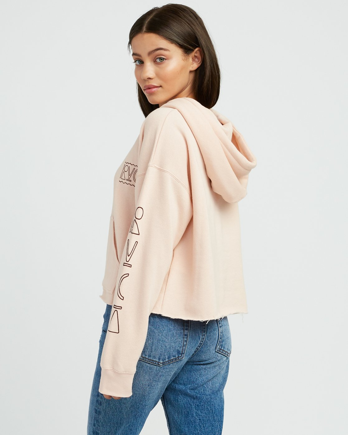 2 Venetian Cropped Hoodie Pink W621SRVE RVCA