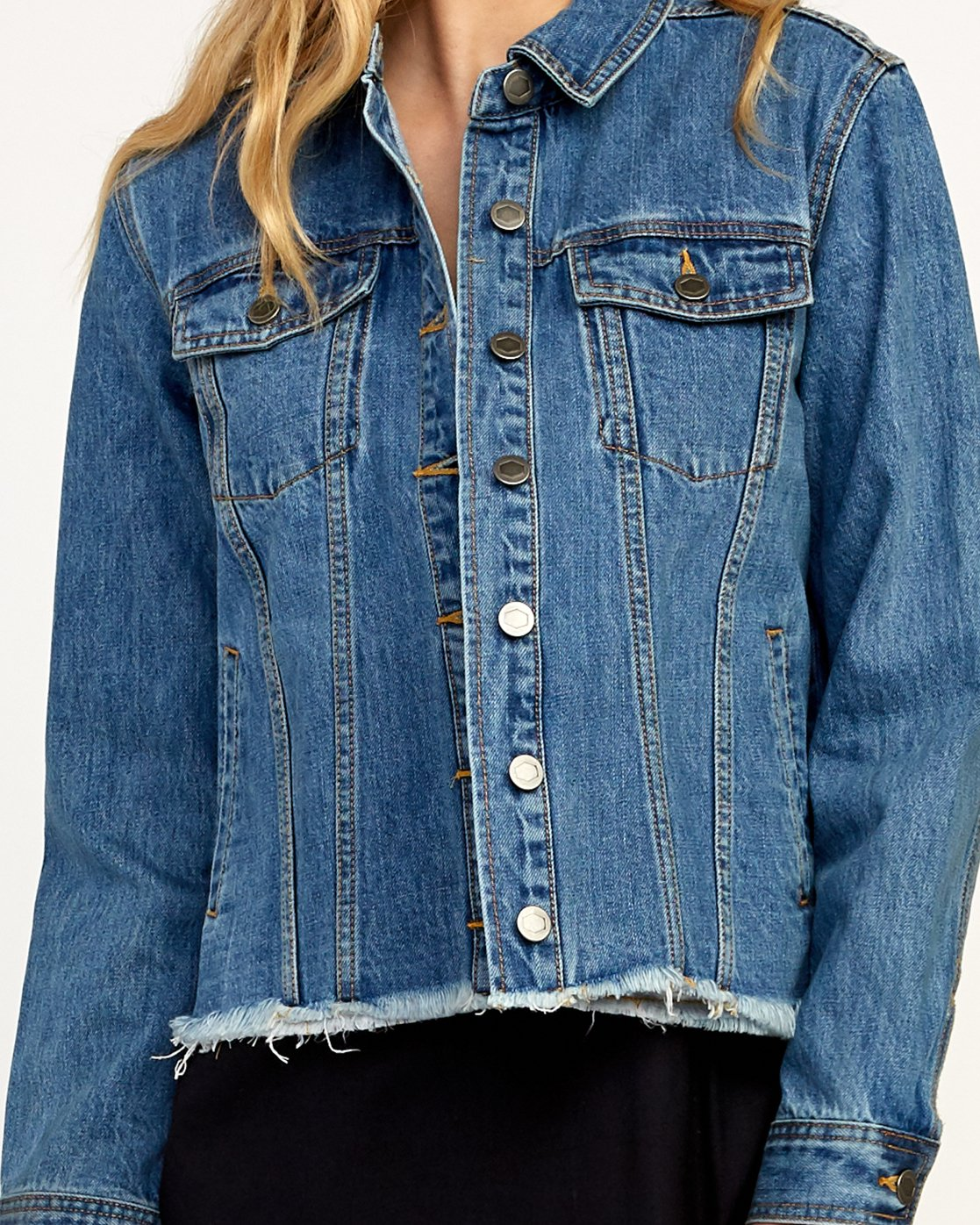 3 Pause It Denim Jacket Blue W702TRPA RVCA