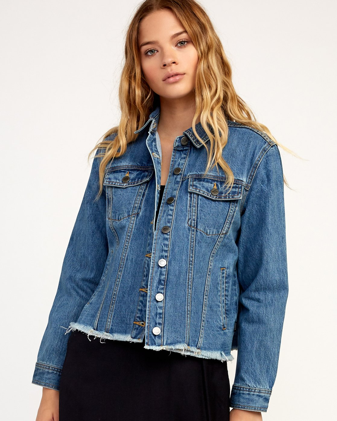 0 Pause It Denim Jacket Blue W702TRPA RVCA