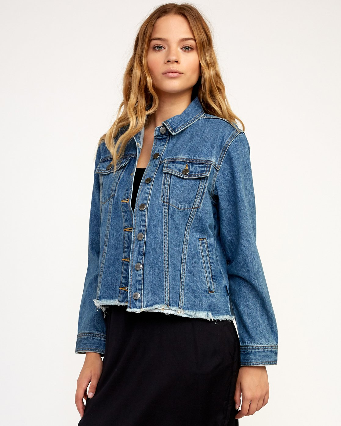 1 Pause It Denim Jacket Blue W702TRPA RVCA