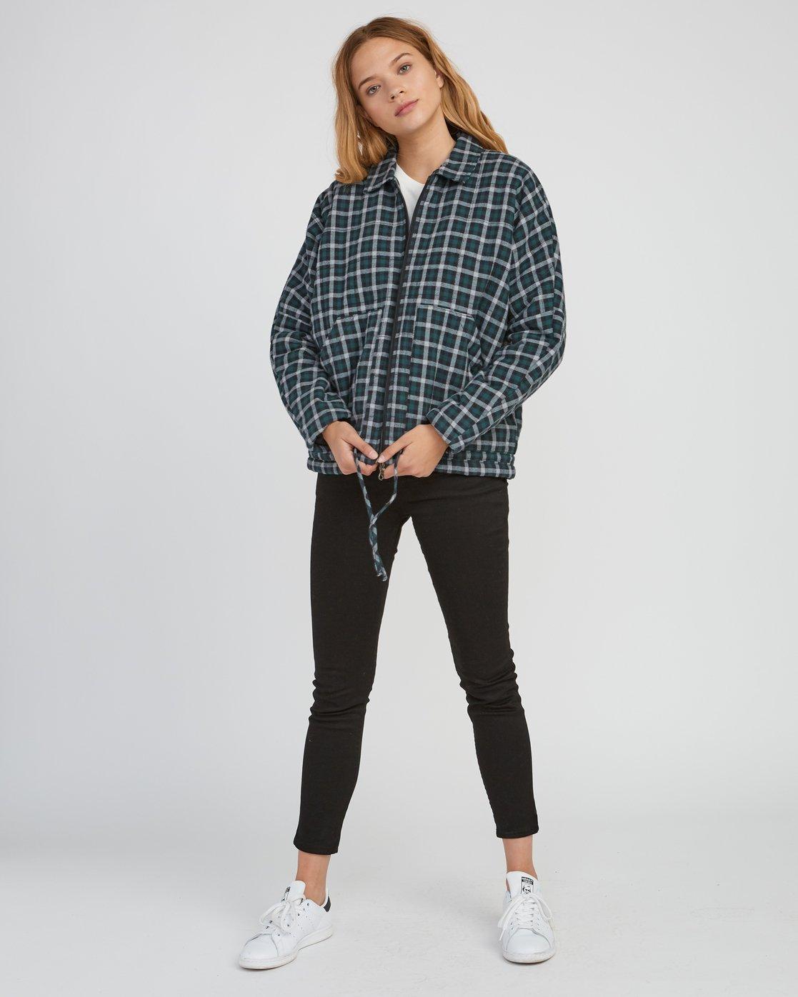 5 Caddy Plaid Flannel Jacket Green W703SRCA RVCA