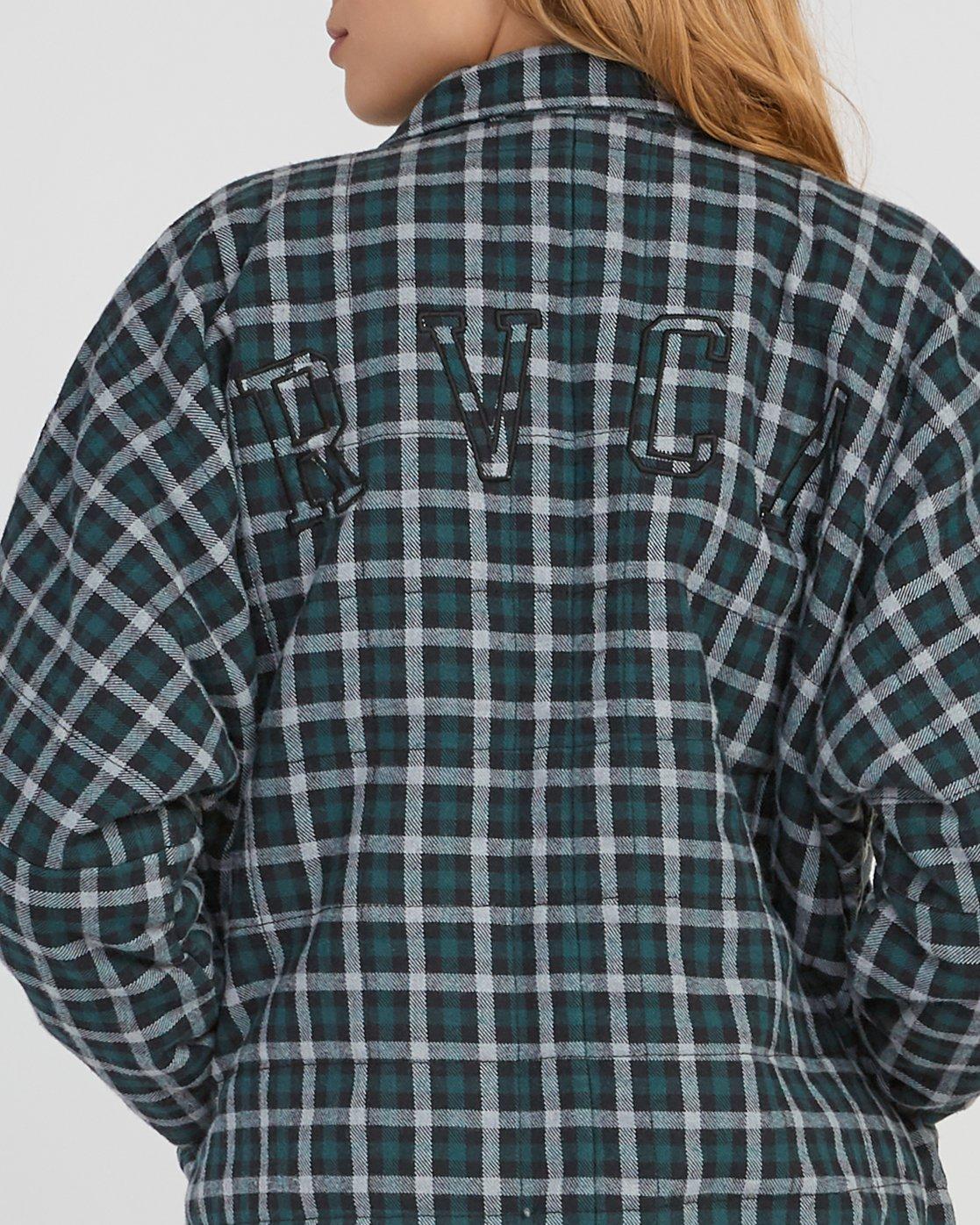 4 Caddy Plaid Flannel Jacket Green W703SRCA RVCA