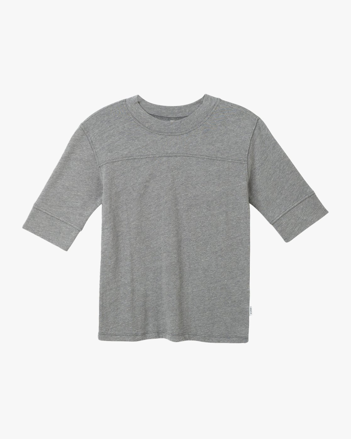 5 Stitched Knit T-Shirt Grey W905TRST RVCA