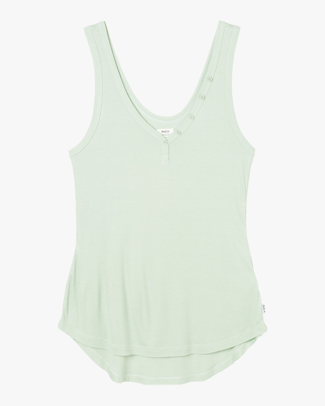 5 Zelda Ribbed Tank Top Green W907PRZE RVCA