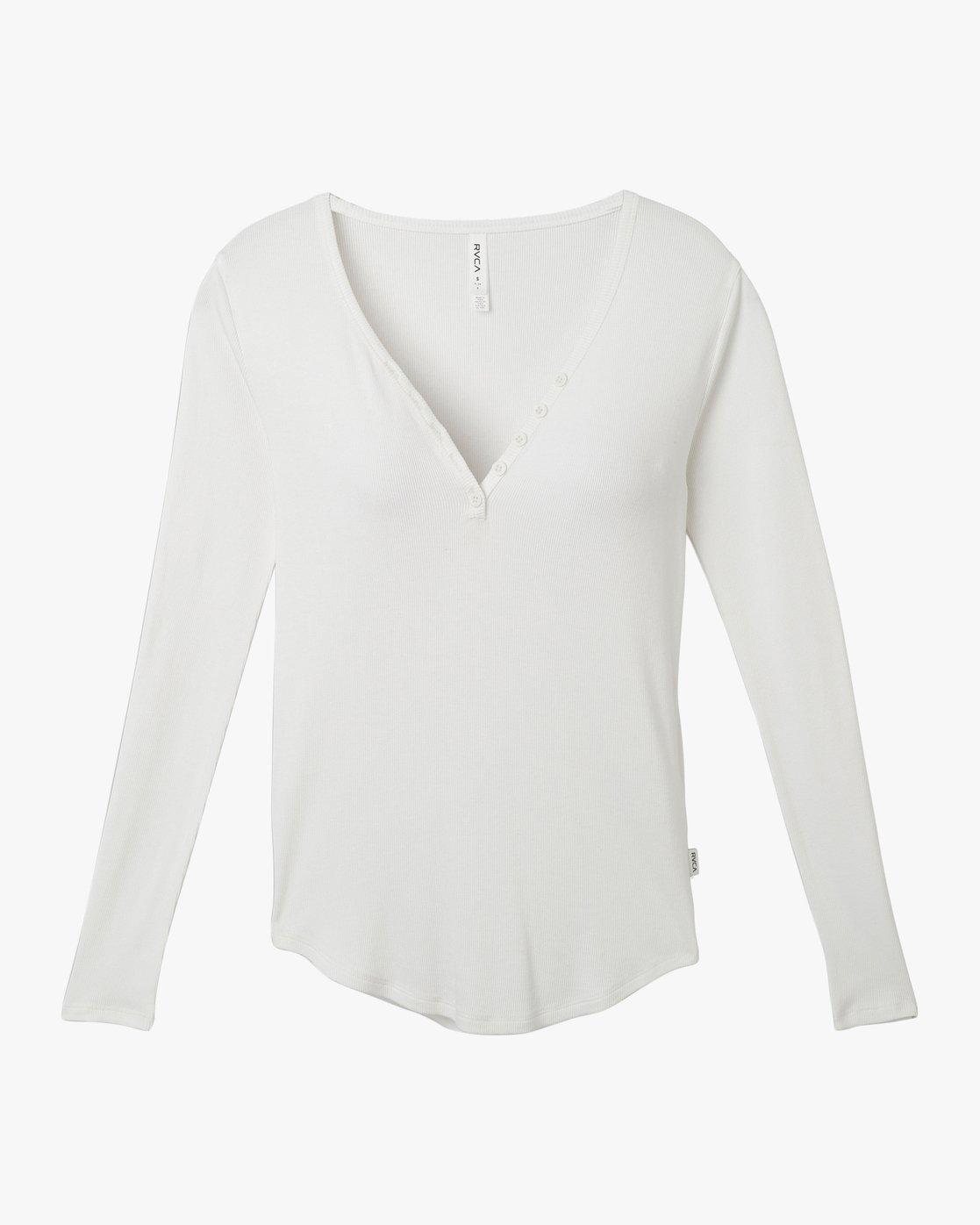 4 Zinnia Knit Long Sleeve Top White W951TRZI RVCA