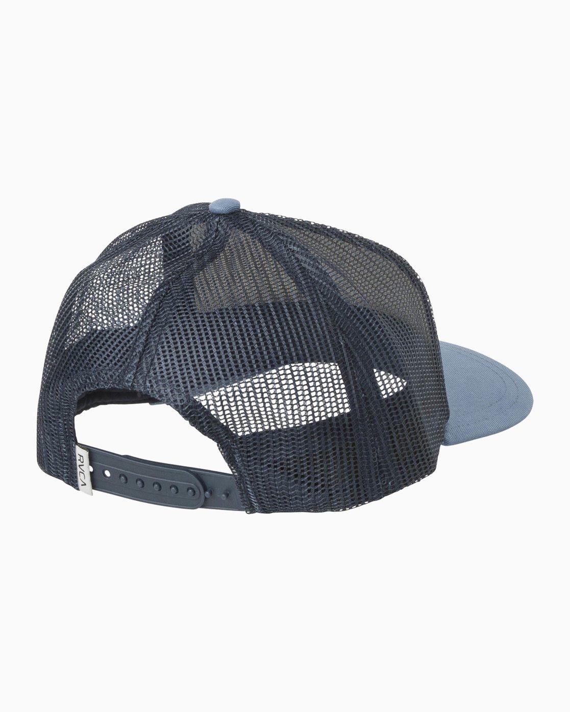 1 Palm Ink Trucker Hat Blue WAHWMRPH RVCA