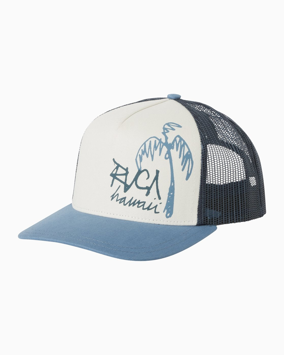 0 Palm Ink Trucker Hat Blue WAHWMRPH RVCA
