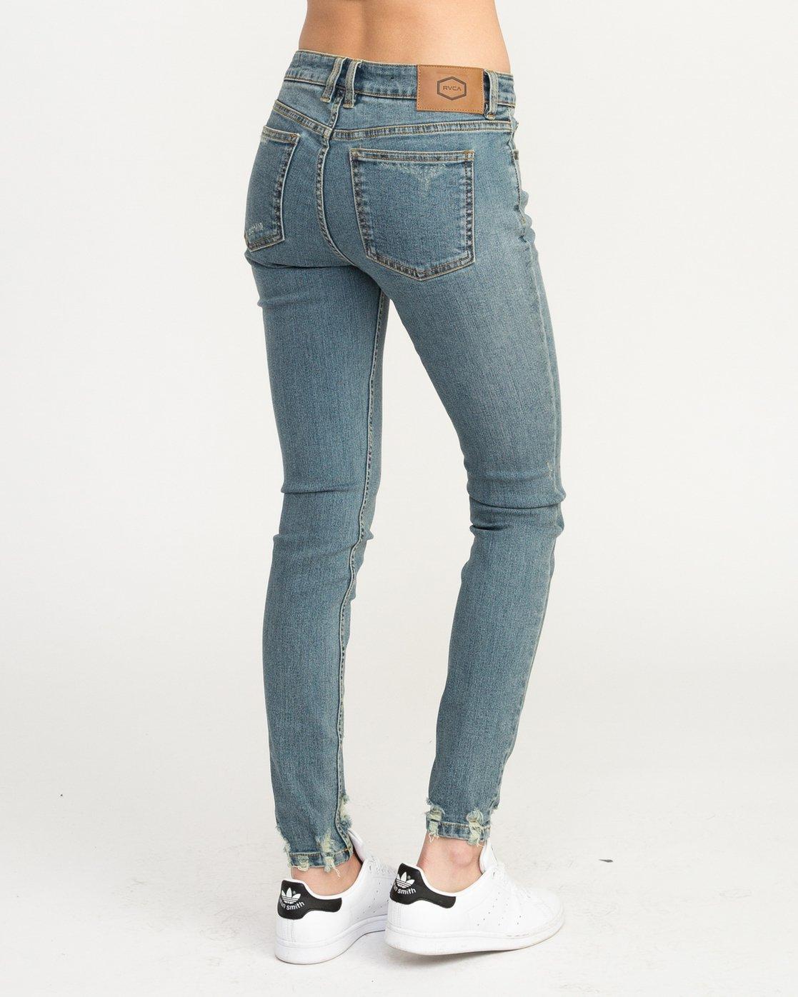 3 Dayley Mid Rise Denim Jeans Blue WCDP02DA RVCA