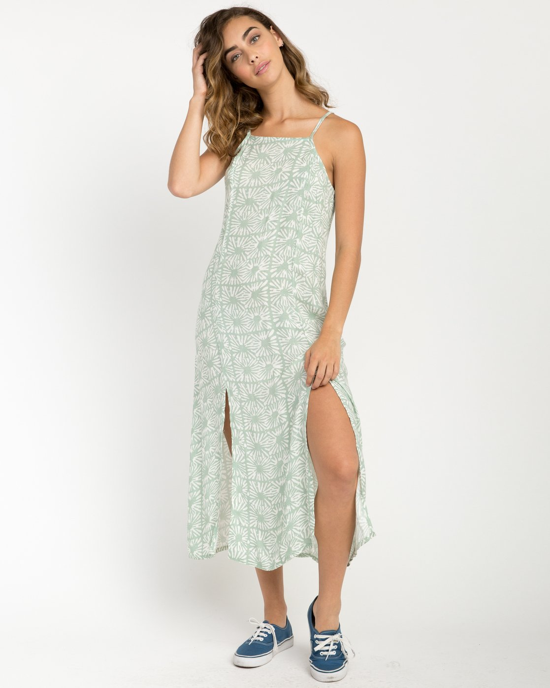 1 Garland Midi Dress Green WD01PRGA RVCA
