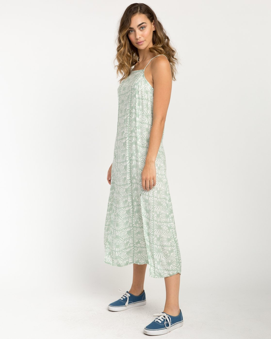 2 Garland Midi Dress Green WD01PRGA RVCA