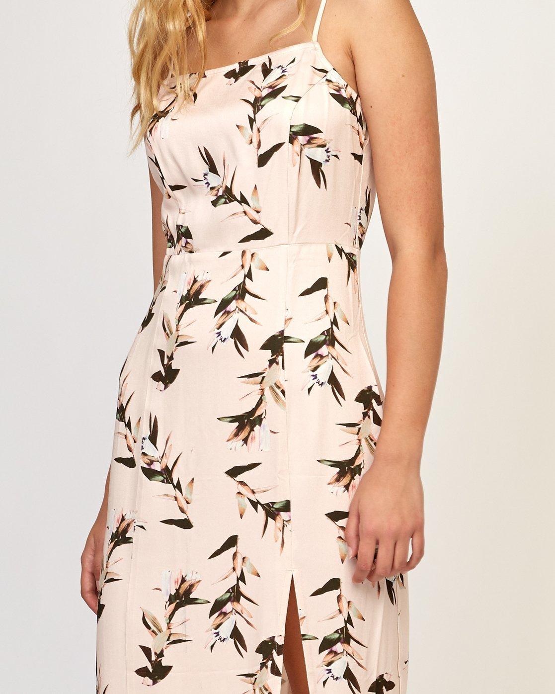 5 Fancy That Floral Dress Beige WD01TRFT RVCA