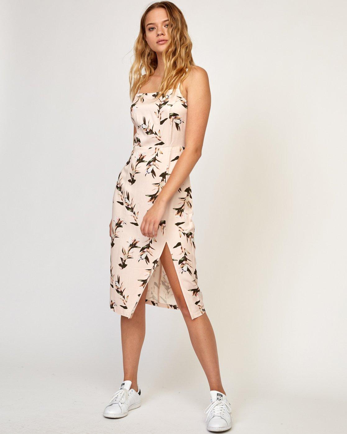 1 Fancy That Floral Dress Beige WD01TRFT RVCA