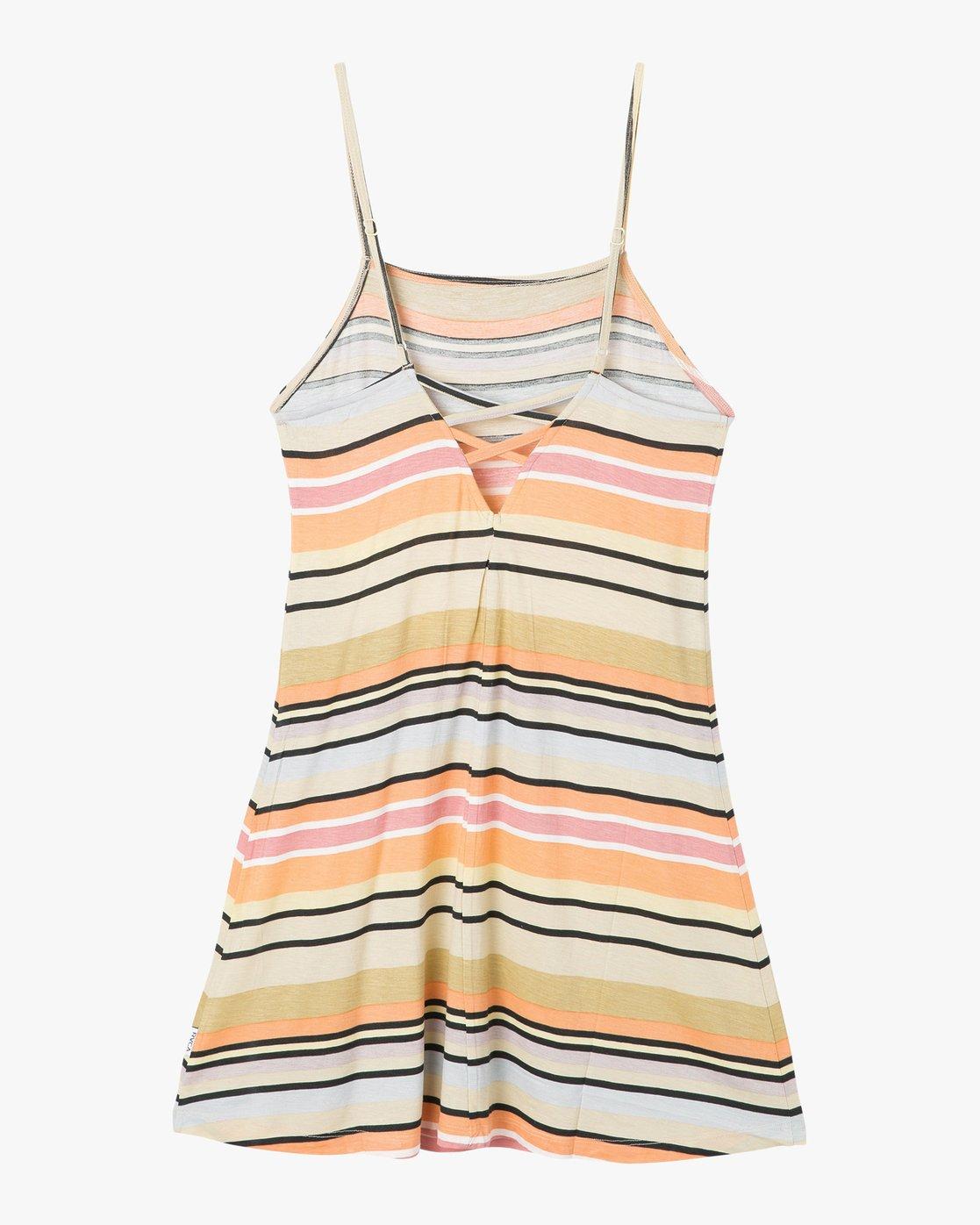 7 Hyacinth Striped Dress Beige WD02PRHY RVCA