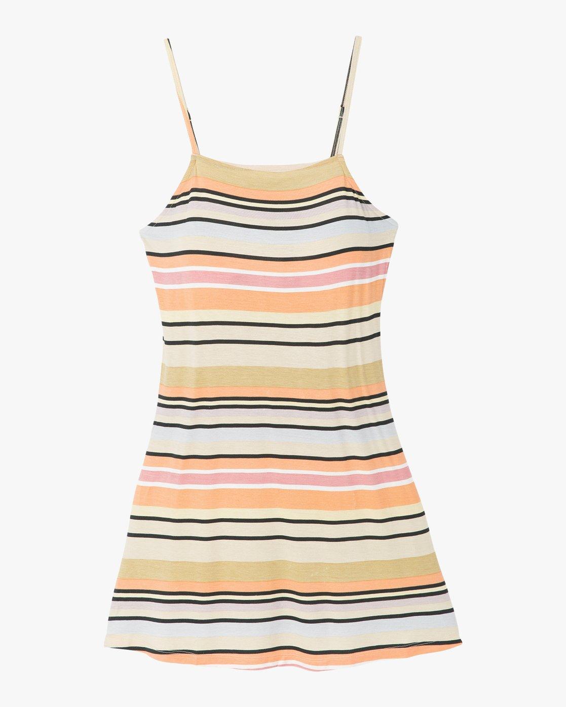 6 Hyacinth Striped Dress Beige WD02PRHY RVCA